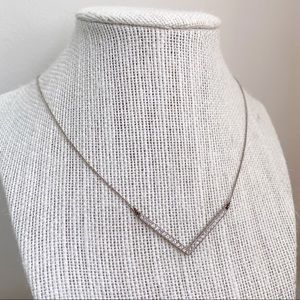 Jewelry - 🎉5/20 SALE🎉 silver pavé crystal chevron necklace